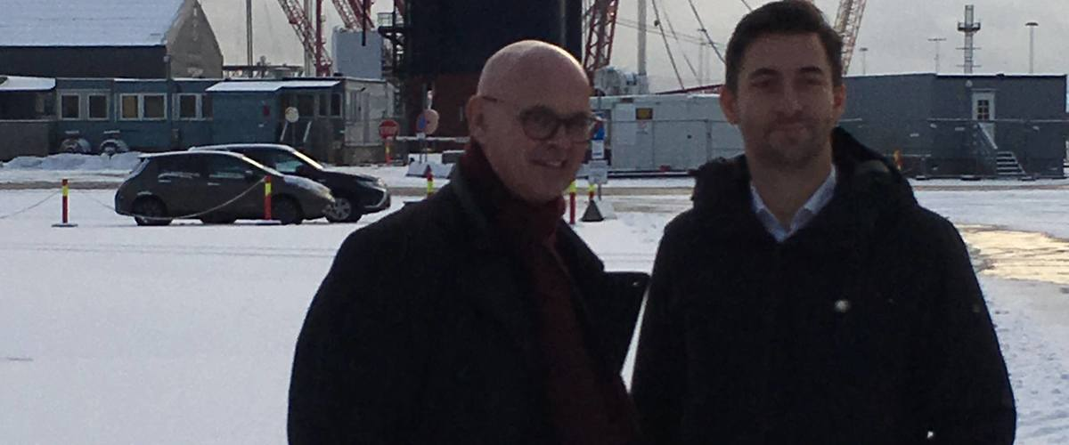 Ole Angell (left) and Lars Halvorsen from Semco Maritime.