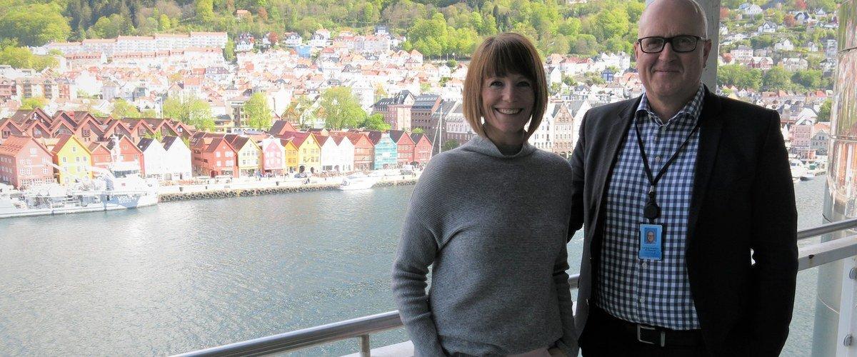 Kristin Helen Andersen, VP of IT at G2 Ocean, together with Leif Arne Strømmen, G2 Ocean's VP of Innovation.
