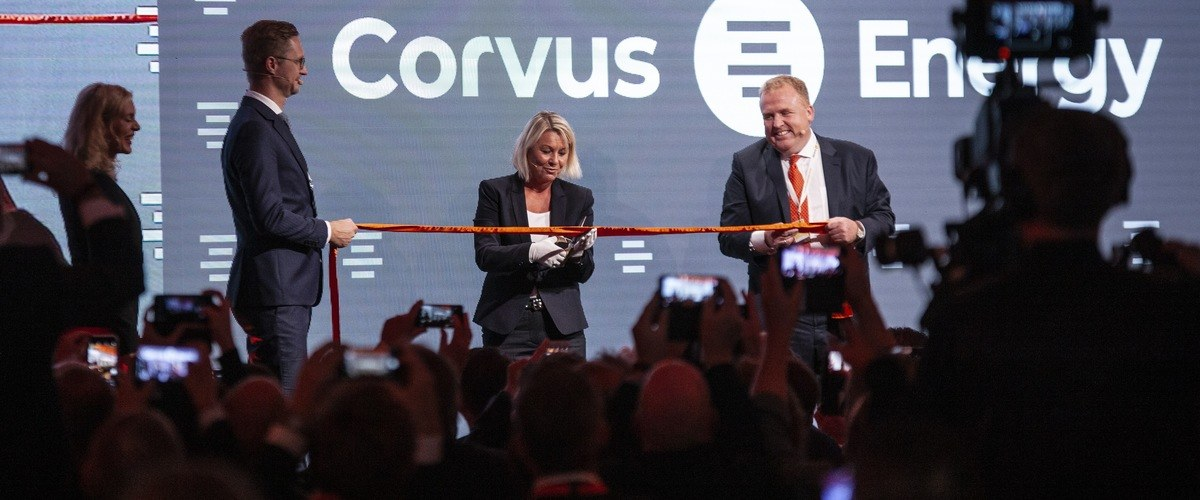 Monica Mæland, Norway's Minister of Local Government and Modernisation, officially opened Corvus Energy's new factory as part of a special ceremony on Thursday (5 September).