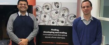 Brian Reddy (left) from the startup company Kinnva, together with Ben Steele from Invest in Bergen.
