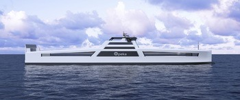 These new cargo ships could soon be delivering hydrogen fuel to ports along Norway's coastline. Photo © Wilhelmsen.