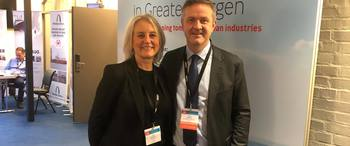 Invest in Bergen attended NASF also in 2020. This is Johan Kvalheim, CEO of NASF in 2020 with Tone Hartvedt, Invest in Bergen.
