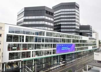220 students from the University of Bergen and a range of different startups, are now co-located under the same roof in the new science park, Media City Bergen™, in the city center of Bergen, Norway. Photo: NCE Media