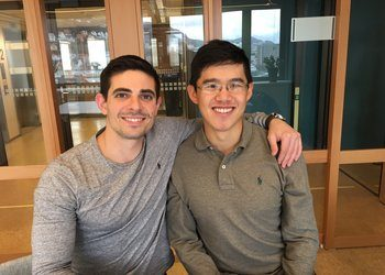 John Constantino (left) and Tony Chen, co-founders of aquaculture health company Manolin.