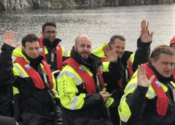 Seafood startups from the Hatch accelerator programme on their visit to Bergen