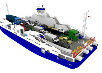 LMG Marin will deliver two battery hybrid ferries for London's Woolwich Ferry crossing. Photo © LMG Marin