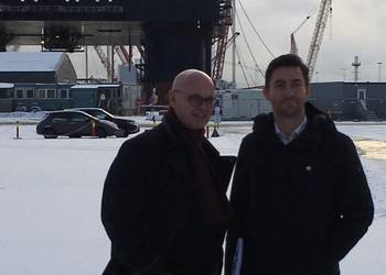 Ole Angell (left) and Lars Halvorsen from Semco Maritime.