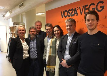Invest in Bergen met some of the players who are turning the town of Voss into an innovation hotspot. From the right: Alexander Solstad Ringheim, Invertapro; Thomas Hårklau, Kitemill; Hanne Heggen Hedenstad, Voss Business Park; Voss Mayor Hans Erik Ringkjøb, Svein Erik Aldal, Voss Business Park, Vidar Totland and Tone Hartvedt from Invest in Bergen