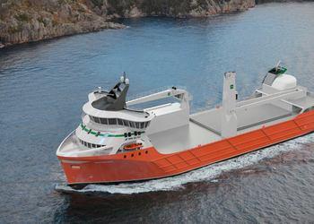 Egil Ulvan Rederi's LNG-electric cargo ship.