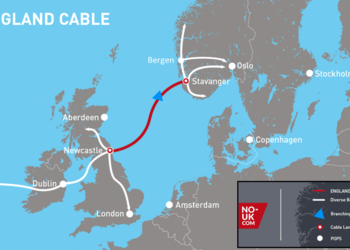 The NO-UK cable, running between Newcastle and Stavanger, will help to make Norway's fibre network faster and more resilient.