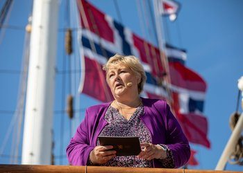 Prime Minister Erna Solberg recently attended two opening ceremonies in Bergen on the same day. Photo © Eivind Senneset, University of Bergen.