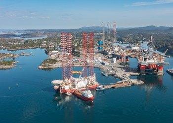 Hanøytangen, Semco Maritime's dry dock and multiple-purpose assembly site (Photo courtesy of Semco Maritime)